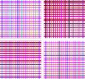 Set of striped seamless colourful pattern Stock Image