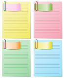Set of striped sheets Stock Image