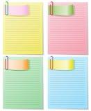 Set of striped sheets stock illustration