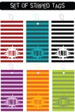 Set of striped tags Royalty Free Stock Photo