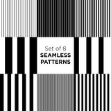 Set of stripped seamless patterns stock illustration
