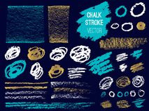 Set stroke spot blod. Brush, pen, marker, chalk. royalty free illustration