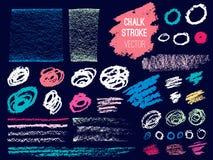 Set stroke spot blod. Brush, pen, marker, chalk. stock illustration