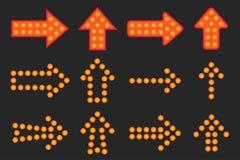 Set strzała światło Zdjęcie Stock