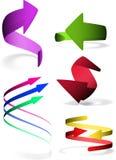 Set 5 strzała ikona Zdjęcie Royalty Free
