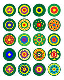 Set stubarwni kółkowi wzory wektor Fotografia Royalty Free