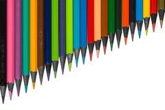 Set stubarwni pensils r rząd od hebanu drewna zdjęcie royalty free