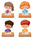 A set of student study vector illustration