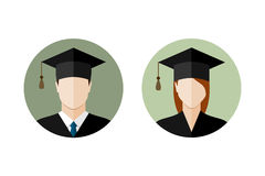 Set of students icons Stock Image