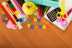 Set from study accessories Stock Image