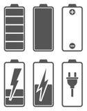 Set Stufenbezeichnungen der Batterieladung Lizenzfreie Stockfotografie