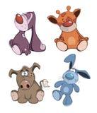Set of stuffed toys cartoon Stock Photography