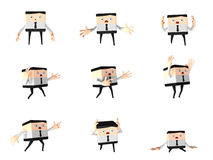 Set of stunning office and business man, 3d cute c. Artoon, PNG transparent background Stock Image