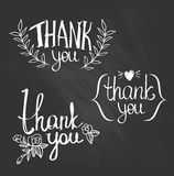 A set of style 'Thank You' design elements. Royalty Free Stock Photo