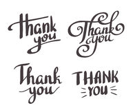 A set of style 'Thank You' design elements. Stock Photo
