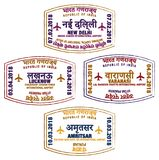 Indian Airport Stamps Royalty Free Stock Images