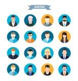 Set of stylish avatars man and woman icons Stock Photography