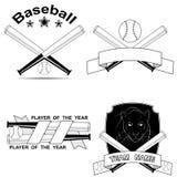Set of stylish baseball shortcuts Royalty Free Stock Photography