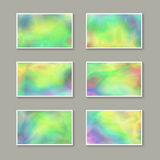 Set of Stylish Business Cards with Holographic Effect. Stock Images