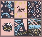 Set of stylish card templates. vector illustration