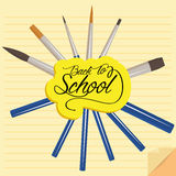 Set Of Stylish Cartoon Different Pencils Royalty Free Stock Photo