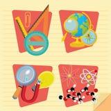Set Of Stylish Cartoon Different School Elements Royalty Free Stock Photography