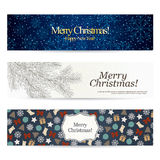 Set of stylish Christmas banners Royalty Free Stock Photo