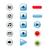 Set of stylish colored buttons Stock Photo