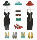 A set of stylish dresses for women.Fashion. Stock Images