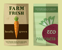 Set of Stylish Farm Fresh flyer, template or Royalty Free Stock Images