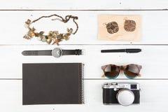 Set of stylish female things Stock Photos