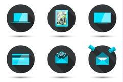 Set of stylish icons Royalty Free Stock Photography