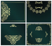 Set of stylish invitations Royalty Free Stock Images