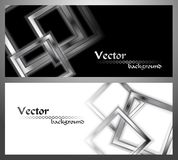 Set of stylish monochrome banners Stock Photos