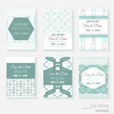 Set of stylish multipurpose Save the date vector Royalty Free Stock Images