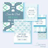 Set of stylish multipurpose Save the date vector Royalty Free Stock Photo