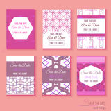 Set of stylish multipurpose Save the date vector Stock Images