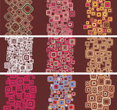 Set stylish  pattern.Vector. Stock Image