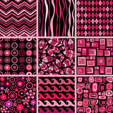 Set of stylish seamless patterns. Stock Photo