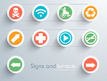 Set of stylish signs and symbols. Stock Images