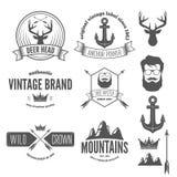 Set of stylish vintage hipster badge, modern Royalty Free Stock Image