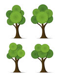 Set of stylized abstract trees, vector  Royalty Free Stock Photo