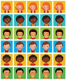 Set of stylized avatars with different facial emotions Royalty Free Stock Image