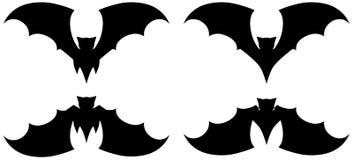 Set of stylized bats isolated Royalty Free Stock Photos