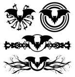 Set of stylized bats tattoo isolated Stock Images