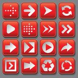 Set of stylized buttons with different arrows Royalty Free Stock Image