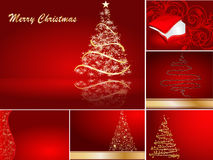 Set of stylized Christmas card Stock Images