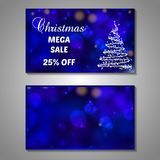 Set of stylized Christmas tree invitation, flyer Stock Photography