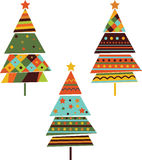 Set of stylized fir trees. Set of stylized fir trees on the white background. Vector Stock Photos