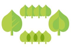 Set a stylized flat design leaf linden suitable for a logo or ad. For a bio - vector Stock Photography